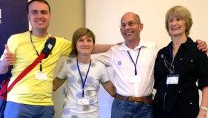 Harry Roche (EPSA), Senada Halilcevic (EPSA), Andreas Zehetner (Lebenshilfe), Maureen Piggot (Inclusion Europe)