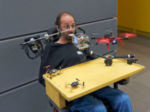 Gerhard controls an RC Logger Eye One Extreme Quadrocopter_credit_Reinhard Pühringer