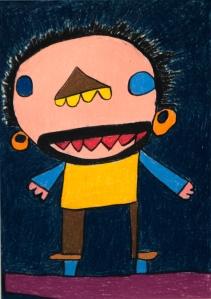 """""""Franz"""" Pastellkreide auf Papier 70x56 cm ©NAHTLOSKUNST"""